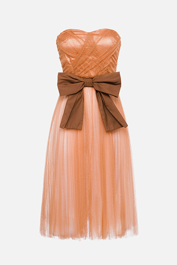 Tulle dress with maxi bow