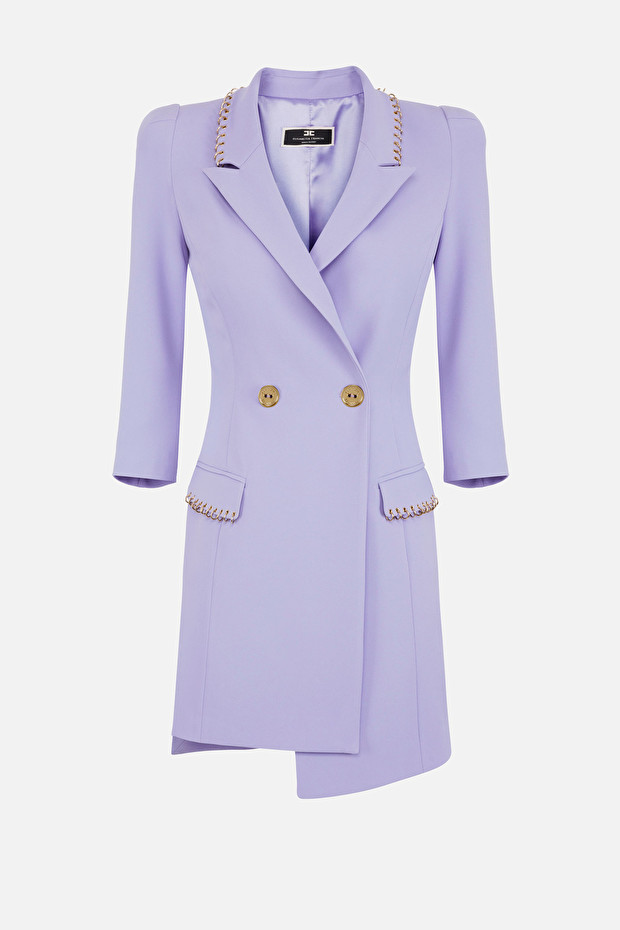 Coat dress with piercing