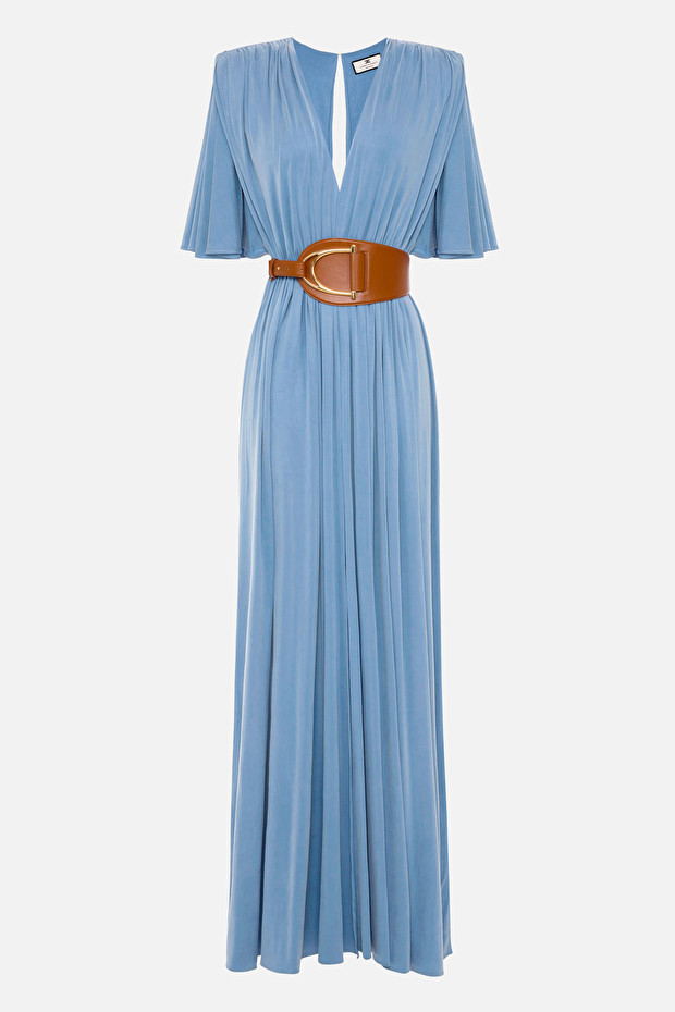 Red Carpet Empire style dress with maxi belt