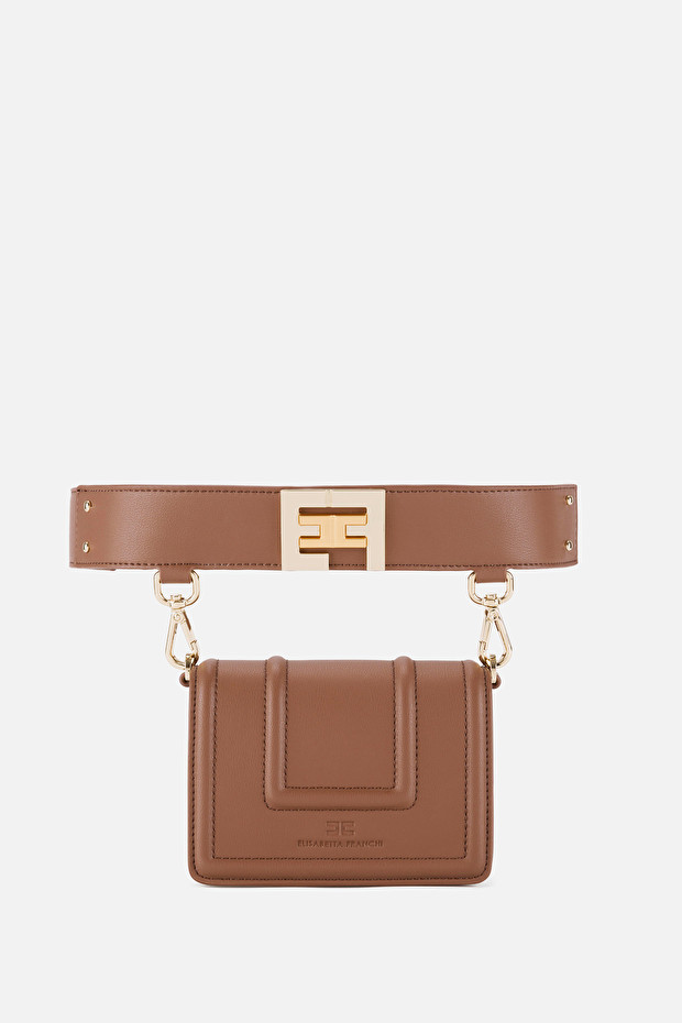 Belt bag with golden logo