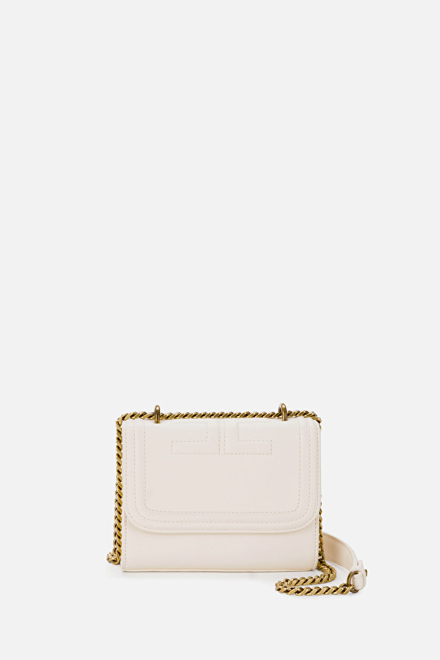 Shoulder clutch bag with golden chain