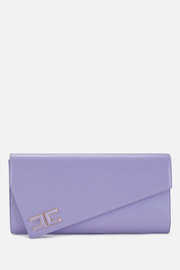 Medium asymmetric clutch bag by Elisabetta Franchi