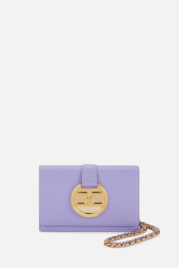 Small shoulder bag with Elisabetta Franchi light gold logo