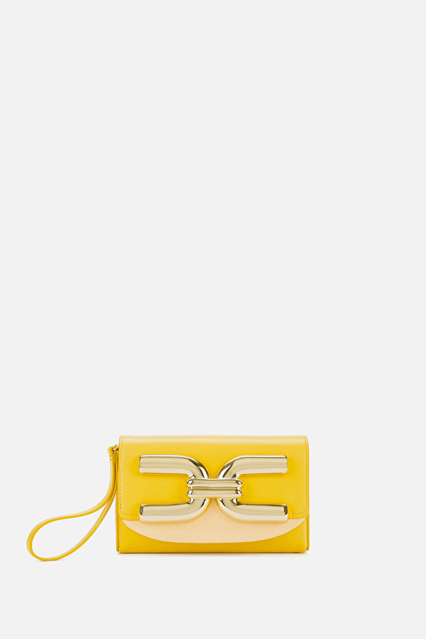 Mini bag with golden logo