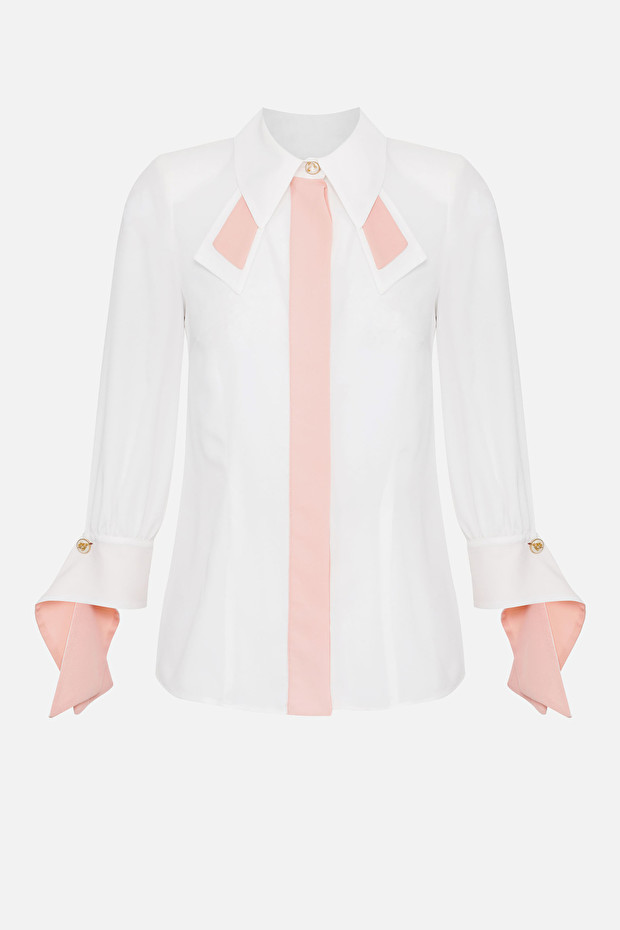 Blouse with contrasting colours