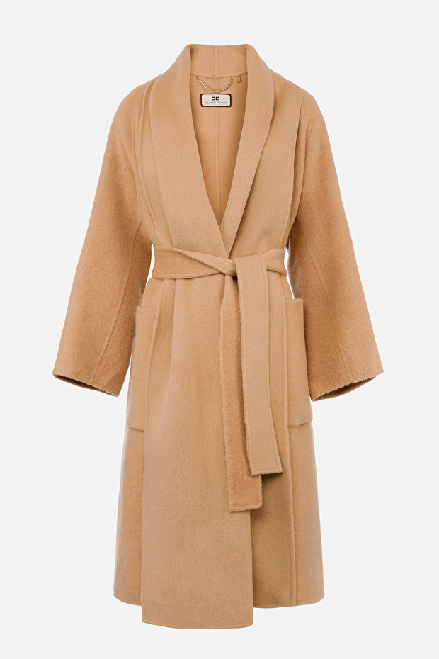 Dressing gown style over coat