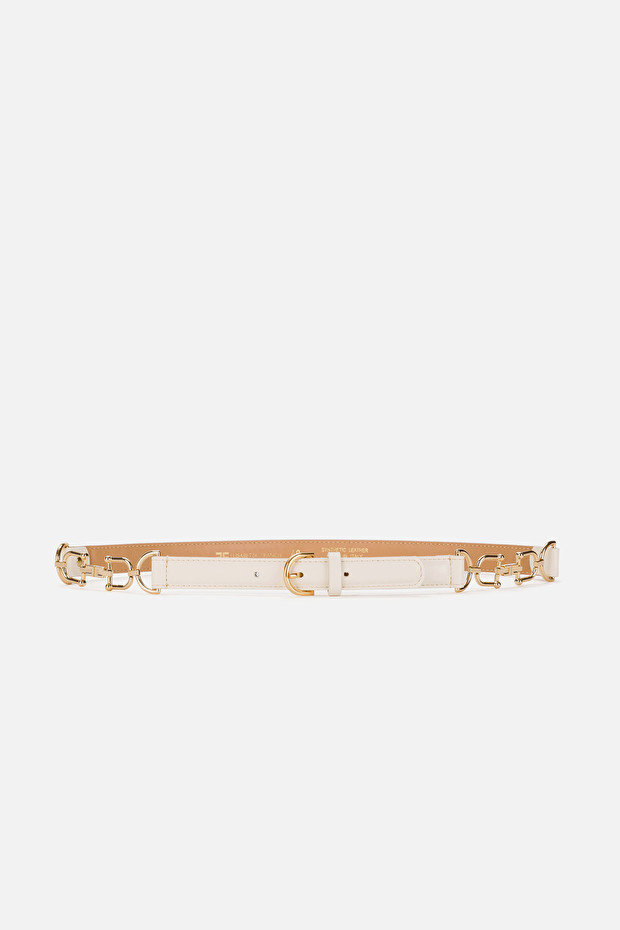 High waist belt with gold clasps