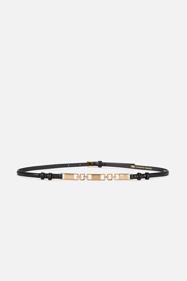 Belt with light gold accessory by Elisabetta Franchi