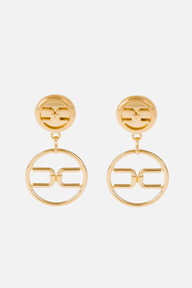 Pendant earrings with Elisabetta Franchi logo