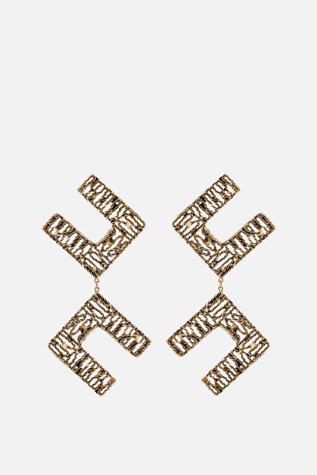 Elisabetta Franchi pendant earrings