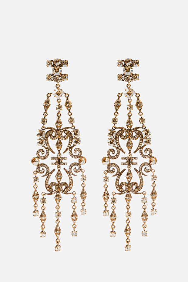 Chandelier earrings with stones by Elisabetta Franchi