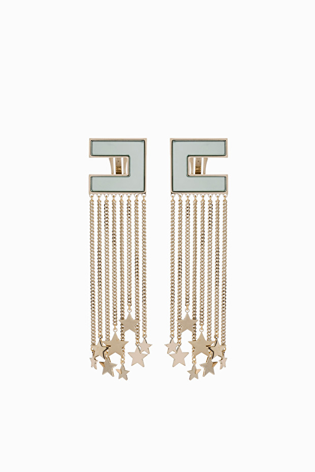Pendant earrings with fringes