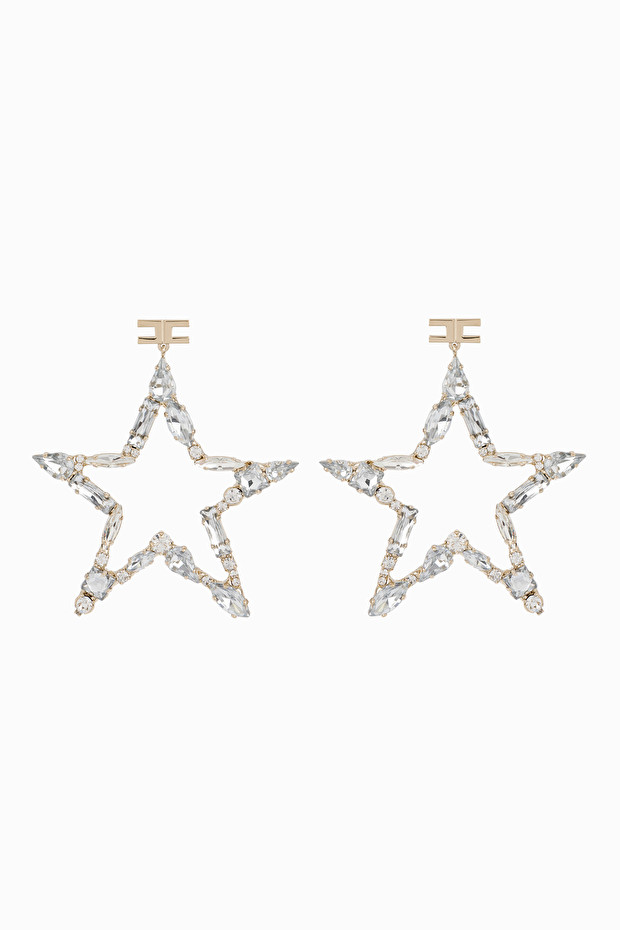 Star earrings with rhinestones