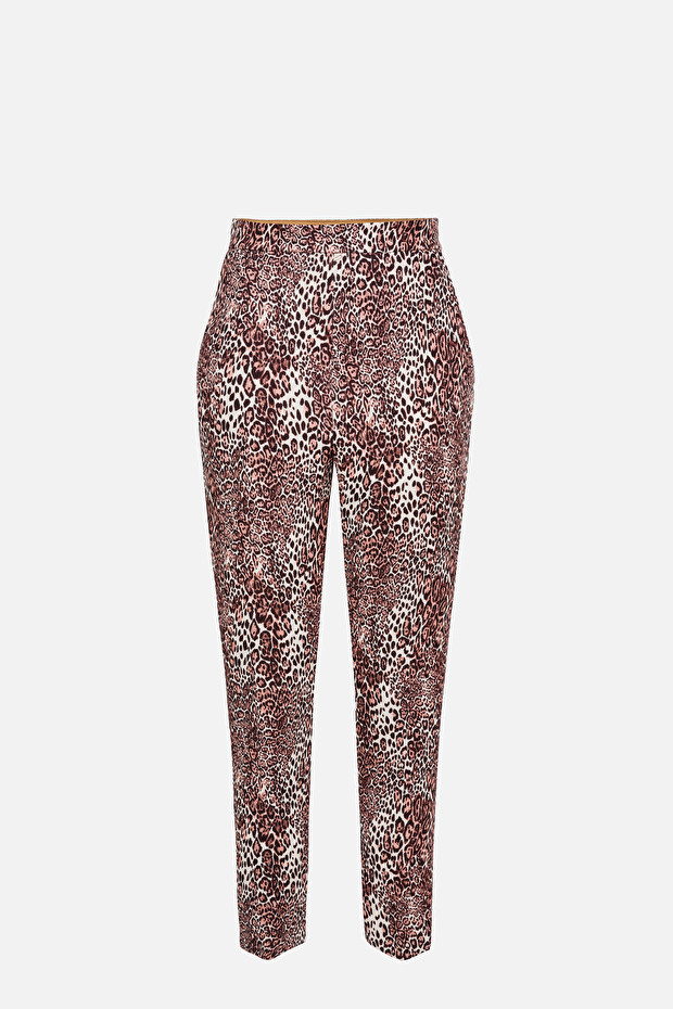 Animalier cigarette trousers