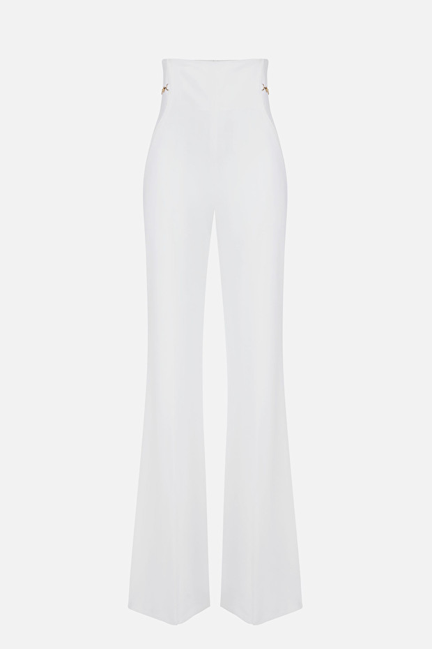 High waist bell-bottom trousers