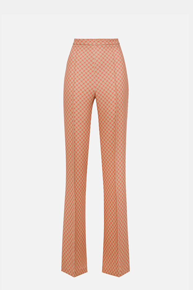 Palazzo trousers with horse bit print