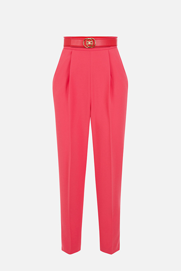 Skinny trousers with belt