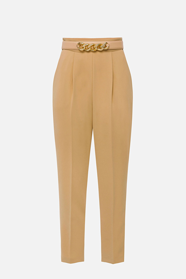 Cigarette trousers with belt accessory