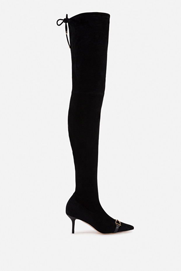 Suede over-the-knee boots by Elisabetta Franchi