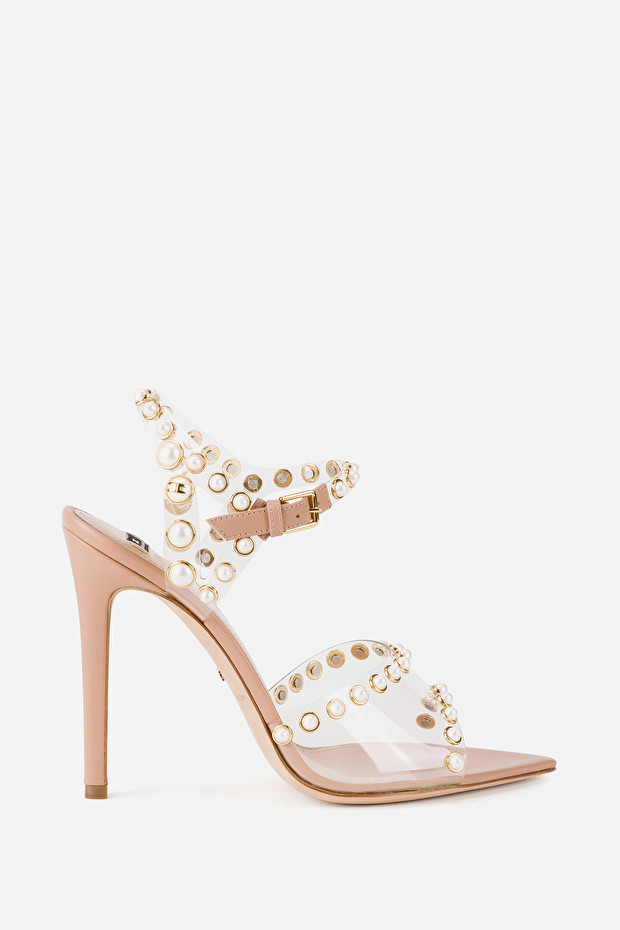 Red Carpet sandal with pearls