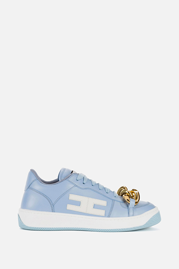 Sneakers with chain by Elisabetta Franchi