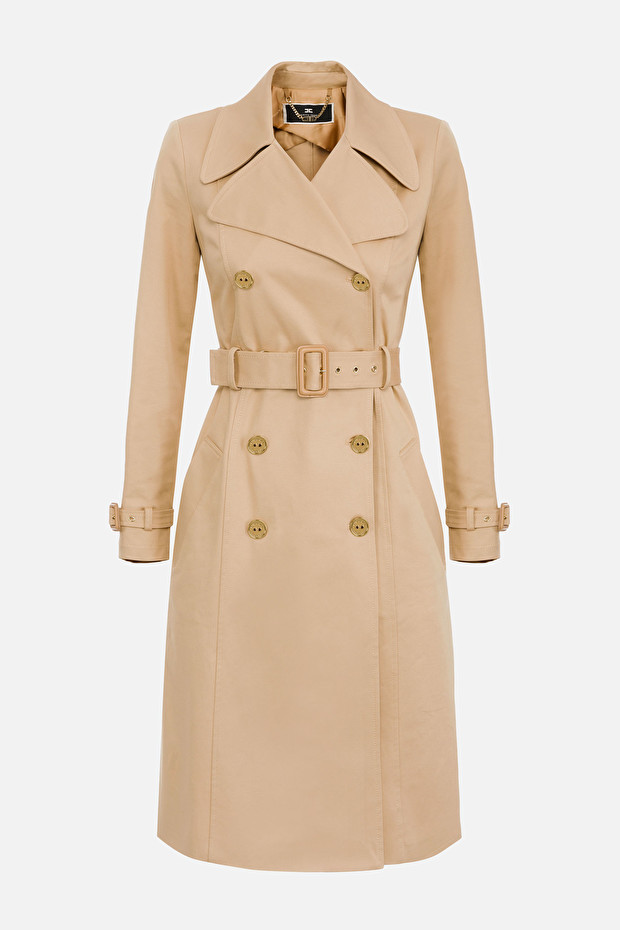 Elisabetta Franchi trench coat with belt